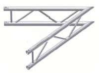 Alur Solutions vertikalt hörn 45º - KN-22 - 2-punktstross - utmärkt tross system för mässmonter applikationer och butiks installationer