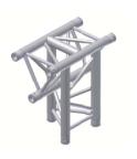 Alur Solutions 3-vägs T-stycke spets neråt - KN-22 - 3-punktstross - utmärkt tross system för mässmonter applikationer och butiks installationer