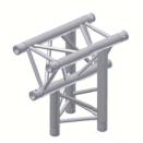Alur Solutions 3-vägs Vertikalt T-stycke Spets Neråt - KN-22 - 3-punktstross - utmärkt tross system för mässmonter applikationer och butiks installationer