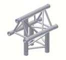 Alur Solutions 3-vägs Vertikalt T-stycke Spets Uppåt - KN-22 - 3-punktstross - utmärkt tross system för mässmonter applikationer och butiks installationer