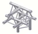 Alur Solutions 4-vägs T-stycke spets uppåt - KN-22 - 3-punktstross - utmärkt tross system för mässmonter applikationer och butiks installationer