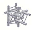 Alur Solutions 5-vägs T-stycke  - KN-22 - 3-punktstross - utmärkt tross system för mässmonter applikationer och butiks installationer