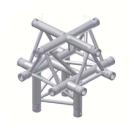 Alur Solutions 5-vägs kors spets uppåt  - KN-22 - 3-punktstross - utmärkt tross system för mässmonter applikationer och butiks installationer