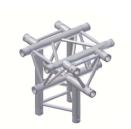 Alur Solutions 5-vägs kors spets neråt  - KN-22 - 3-punktstross - utmärkt tross system för mässmonter applikationer och butiks installationer