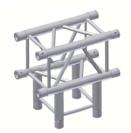 Alur Solutions 3-vägs T-stycke - KN-22 - 4-punktstross - utmärkt tross system för mässmonter applikationer och butiks installationer