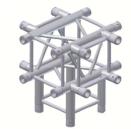 Alur Solutions 5-vägs Kors - KN-22 - 4-punktstross - utmärkt tross system för mässmonter applikationer och butiks installationer