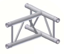 Alur Solutions vertikalt 3-vägs T-stycke- K-30 - 2-punktstross - tross system för medelstora applikationer av permanenta och tillfälliga konstruktioner