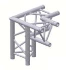 Alur Solutions 3-vägs hörn 90º vänster spets neråt - K-30 - 3-punktstross - ett utmärkt tross system för medelstora applikationer av permanenta och tillfälliga konstruktioner