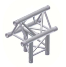 Alur Solutions 3-vägs T-stycke spets uppåt - K-30 - 3-punktstross - ett utmärkt tross system för medelstora applikationer av permanenta och tillfälliga konstruktioner