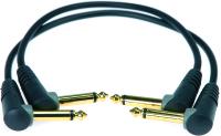 Klotz AU-AJ | Obalanserad vinklade Tele -Tele patchkabel