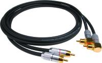 Klotz ALPA | RCA-RCA kabel med vinklade RCA