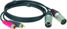 Klotz ATNCM   Kabel med RCA-XLR Hane