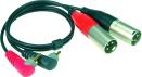 Klotz AT-CAM   Kabel med vinklad RCA-XLR Hane