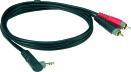 Klotz AY7A-0100   1,0m Y-Splitt vinklad Minitele - RCA
