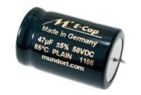 Mundorf E-CAP Plain | Elektrolytkondensatorer för audio bruk
