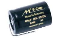 Mundorf E-CAP RAW | Elektrolytkondensatorer för audio bruk