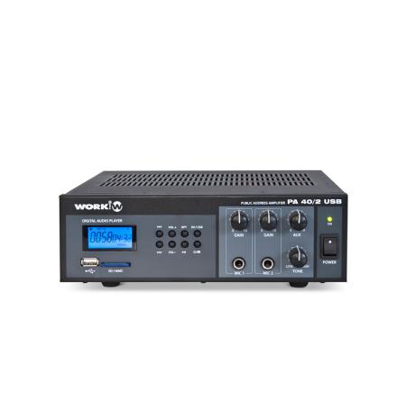 Work PA-40/2USB   Kompakt mixerförstärkare 15W med mediaspelare